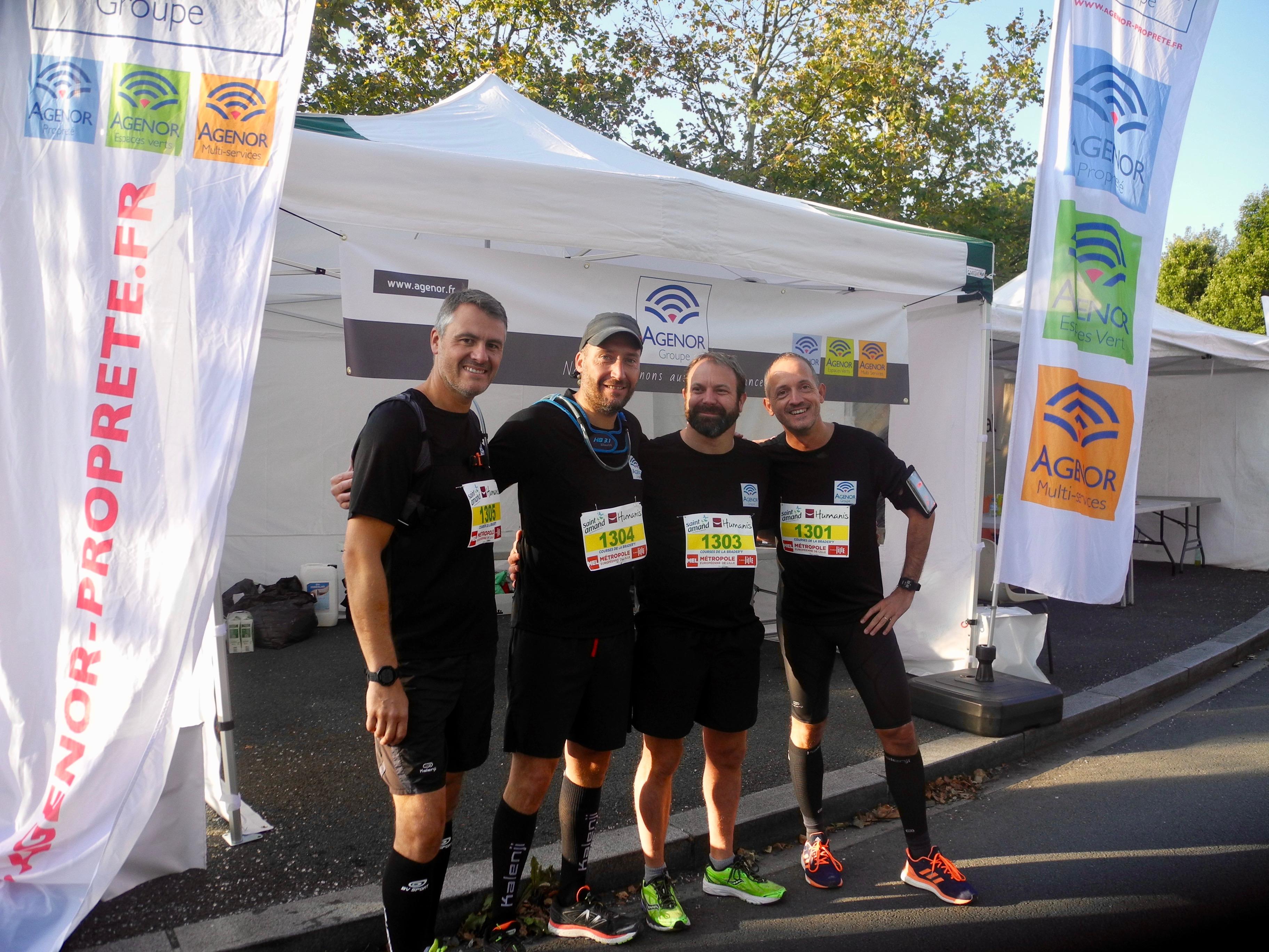 Team Agenor semi marathon braderie de lille 2018