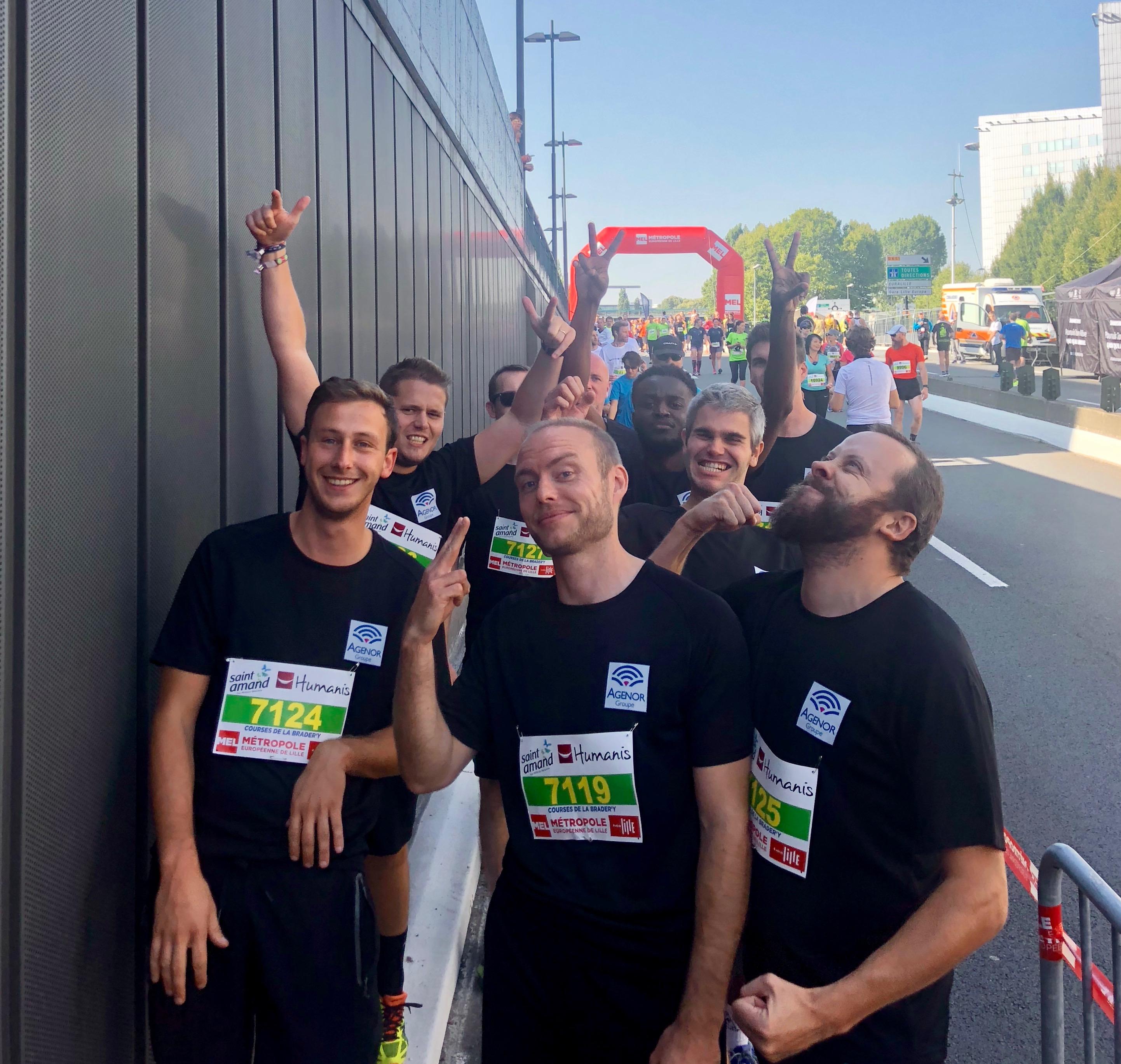 Agenor départ 10km braderie 2018