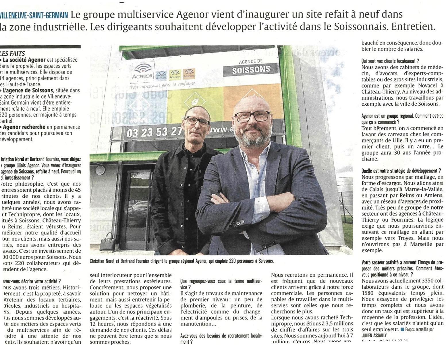 Interview Agenor - L'union 25-09-2018 (1)